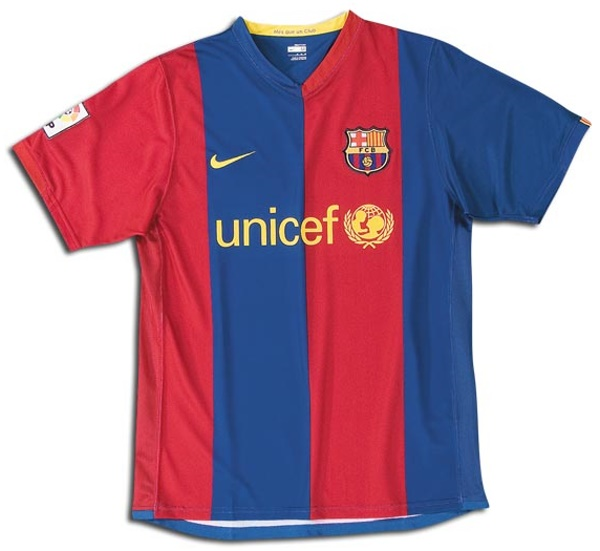 Barcelona Shirts Home Football Shirt Picture - Barcelona colors